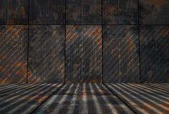 Rusty Metal Room sujo escuro ilustração stock
