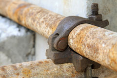 Rusty metal scaffolding elements Royalty Free Stock Images
