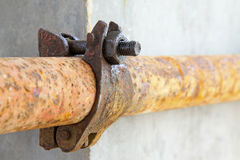 Rusty metal scaffolding elements Royalty Free Stock Image