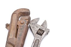 Rusty metal screw-wrenches Royalty Free Stock Photography