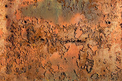 Rusty metal sheet Stock Image