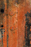 Rusty Metal Sheet With Cracked Decomposed Peeled Off Red Paint Royalty Free Stock Images