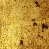 Rusty metal sheet with spots of coffee Royalty Free Stock Images