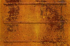 Rusty metal sheet. Rusty metal wall texture from a van Stock Images
