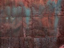 The rusty metal sheets. Multicolored rust. royalty free stock photos