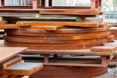 Rusty metal sheets. In yard Stock Photography