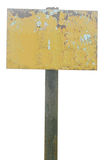 Rusty metal sign Stock Photography