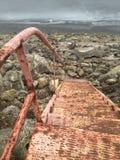 Rusty Metal Stairs che conduce nel Mississippi Fotografia Stock