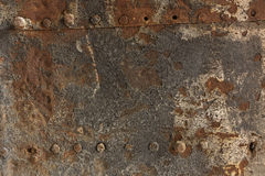 Rusty metal and stone wall backgrounds Stock Image