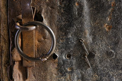 Rusty metal and stone wall backgrounds Stock Photography