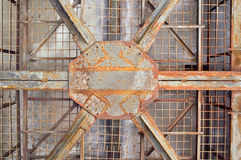 Rusty metal structure. As a background Royalty Free Stock Photos