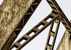 Rusty metal structure Stock Images
