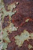 Rusty metal surface with cracked green paint, abstract rusty metal texture, rusty metal background, corrosion, decay metal backgro. Und, decay steel, decay Stock Images