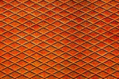 Rusty metal surface with reticulated texture and pattern Stock Image