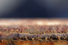 Rusty metal texture. Shallow depth of field royalty free stock images