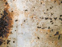 Rusty Metal Texture. Close up of rusty metal under peeling paint Stock Photography