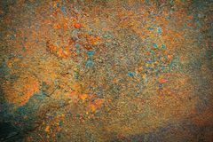 Rusty metal texture background for interior exterior decoration. Stock Images