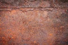 Rusty metal texture background for interior exterior decoration. Royalty Free Stock Photography