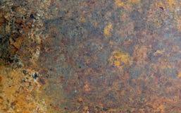 Rusty Metal Texture Grunge Abstract-Achtergrond Royalty-vrije Stock Afbeeldingen