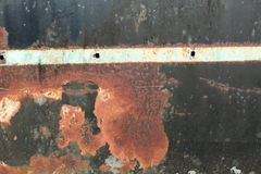 Rusty metal texture. A rusted metal background and texture Royalty Free Stock Photo