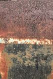 Rusty metal texture. A rusted metal background and texture Royalty Free Stock Images
