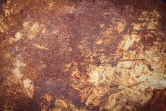 Rusty metal texture or rusty metal background for interior exterior decoration and industrial construction concept design. Rusty metal is caused by moisture in Royalty Free Stock Photography