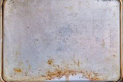 Rusty metal textured plate Royalty Free Stock Images