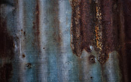 Rusty metal on Tin roof for background. Royalty Free Stock Images