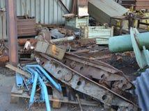 Rusty metal trash Stock Photo