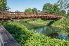 Rusty Metal Walking Bridge 2 royalty-vrije stock foto's