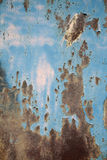 Rusty metal wall. The rusty painted metal wall stock images