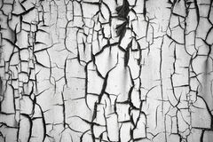 Rusty metal wall with peeling paint, background or texture. stock photography