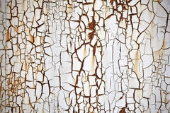 Rusty metal wall with peeling paint, background or texture. royalty free stock photography