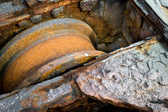 Rusty Metal Wheel Stockbilder