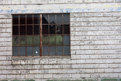 Rusty Metal Window Royalty Free Stock Images