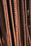 Old rusty steel armature, closep Royalty Free Stock Image