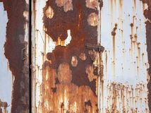 Rusty metallic background Stock Images