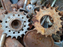Rusty metallic details Royalty Free Stock Photography