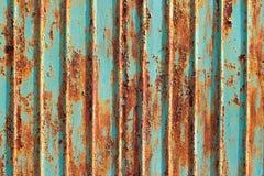 Rusty metallic frame texture. Flaking paint on rusty metallic frame stock photo