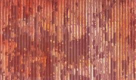 Rusty metallic garage door Royalty Free Stock Photo
