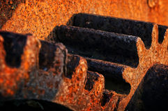 Rusty and metallic gear Stock Photo