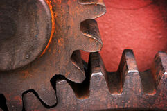 Rusty and metallic gear wheel. Of old industry Stock Photography