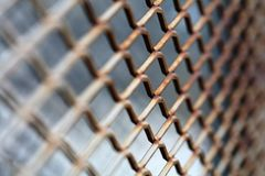 Rusty metallic net Royalty Free Stock Photo
