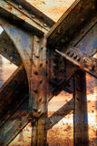 Rusty metallic structure Stock Image