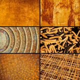 Rusty metallic surfaces. Collection for design Stock Photo