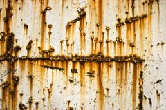 Rusty Metallic Wall Royalty Free Stock Photo