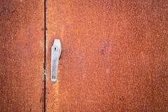 rusty metalowe drzwi Zdjęcie Royalty Free