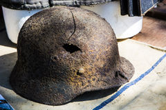Rusty military helmet Royalty Free Stock Images