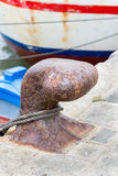 Rusty Mooring on a Pier in Cádiz, Spain Stock Image