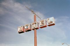 Rusty motel sign